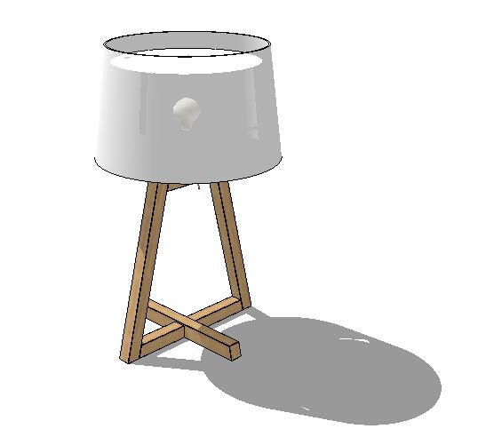 现代室内简约台灯设计su模型[原创]