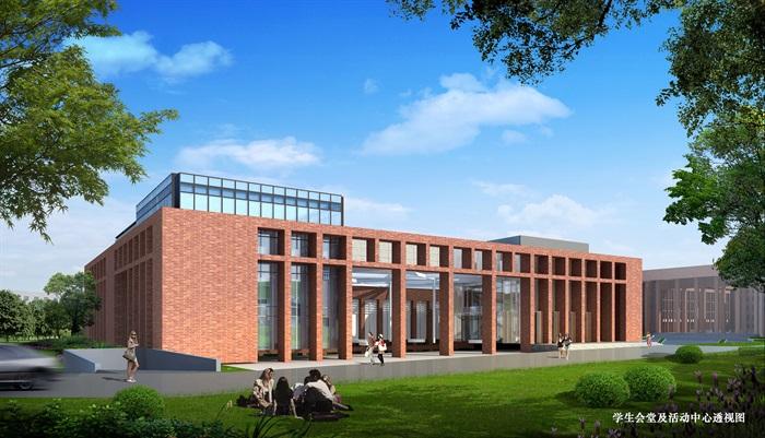 某高校会堂及活动中心建筑设计方案(2)