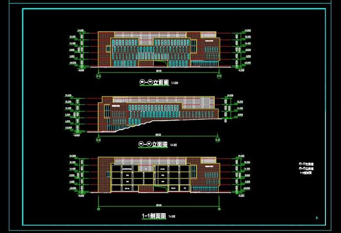 某高校图书馆建筑设计方案(3)