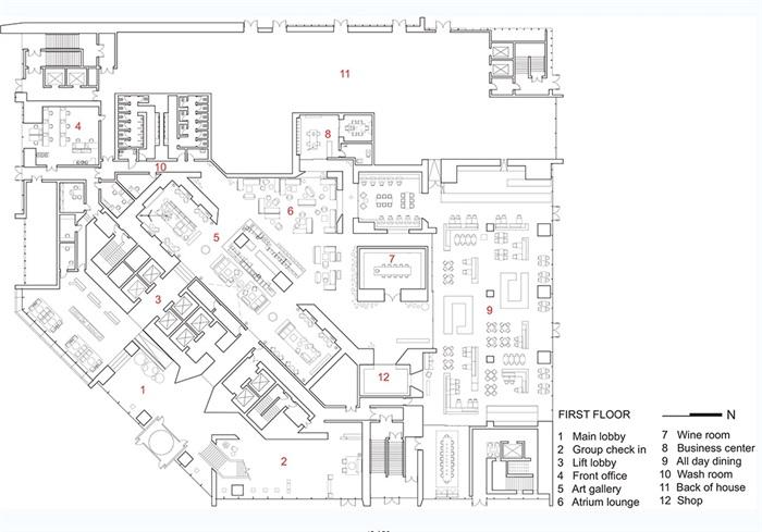 现代酒店餐饮空间设计jpg方案及效果图[原创]图片