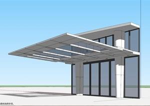 室外雨棚设计SU(草图大师)模型