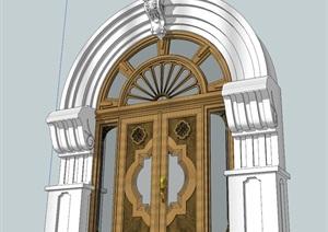 欧式精美窗户设计SU(草图大师)模型