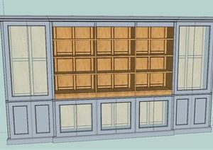 现代室内酒柜柜子设计su模型