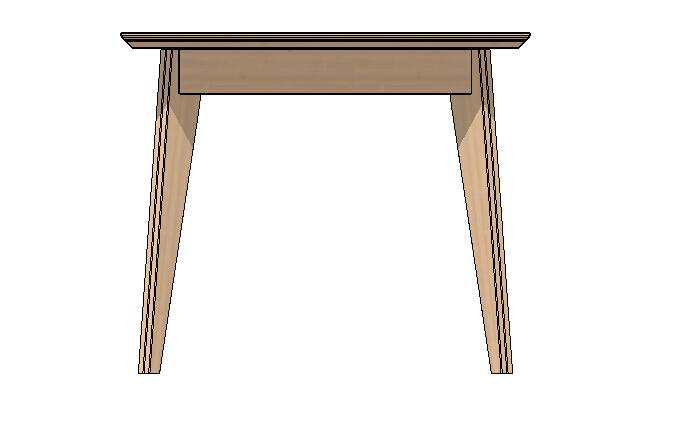 方桌子设计su模型[原创]