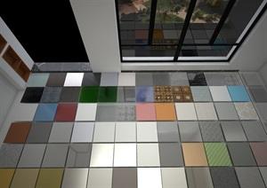 多个室内设计常见材质