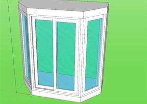某现代建筑窗户设计SU(草图大师)模型