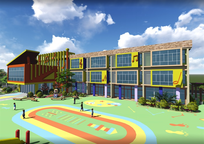 翠湖幼儿园设计jpg文本、cad施工图及效果图