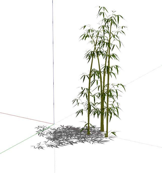 园林景观竹子植物设计su模型[原创]