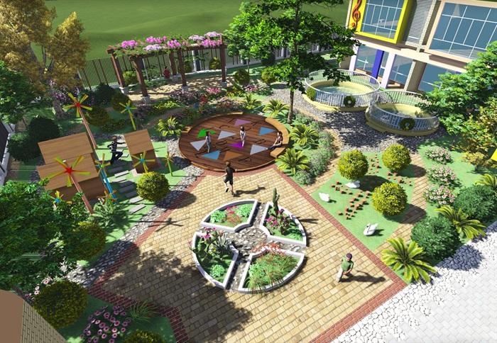 翠湖幼儿园设计jpg文本、cad施工图及效果图(3)