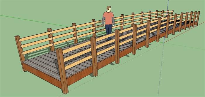 景观木桥素材设计su模型[原创]