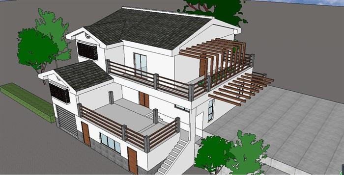 农村房子模型图片_农村房子模型