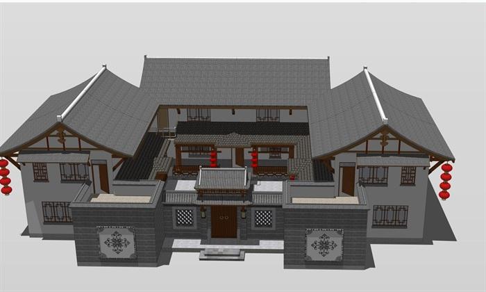 四合院寺院设计图展示