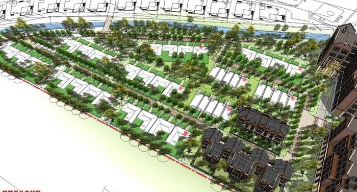 欧式住宅小区整体建筑规划su模型[原创]
