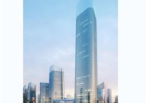 现代商业办公大厦楼psd效果图