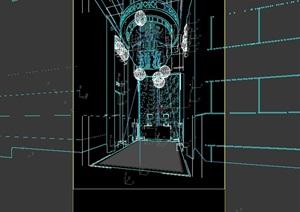 电梯间内设计3d模型