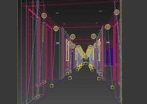 某室内走廊过道设计3d模型