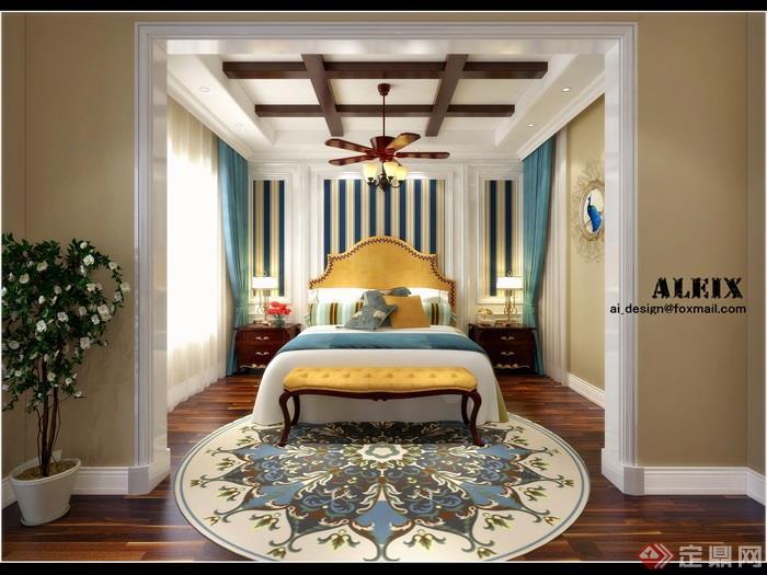卧室,卧室装饰,卧室空间,床尾凳