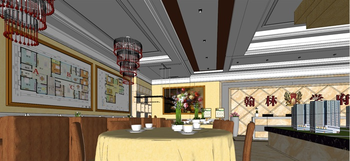 售楼部室内设计SU模型