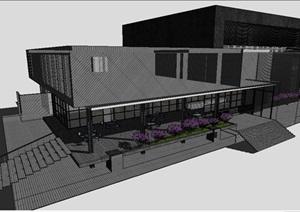 售楼中心单体建筑SU(草图大师)模型