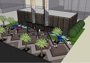 售楼部建筑景观设计SU(草图大师)模型