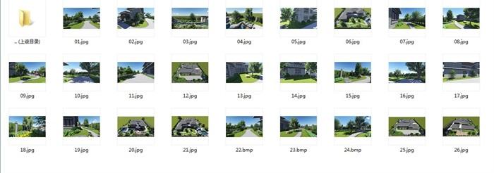 中式风格别墅庭院景观设计效果图(8)