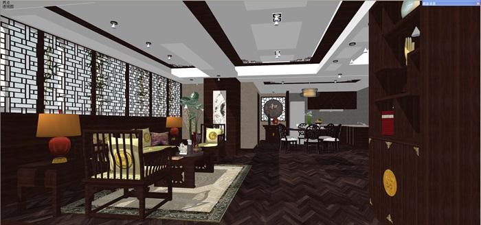中式客厅餐厅设计(2)