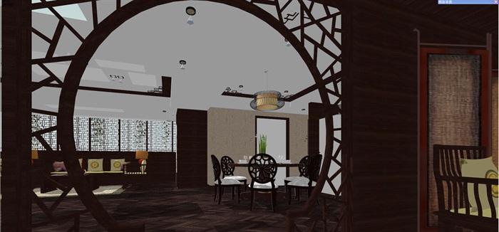 中式客厅餐厅设计(3)