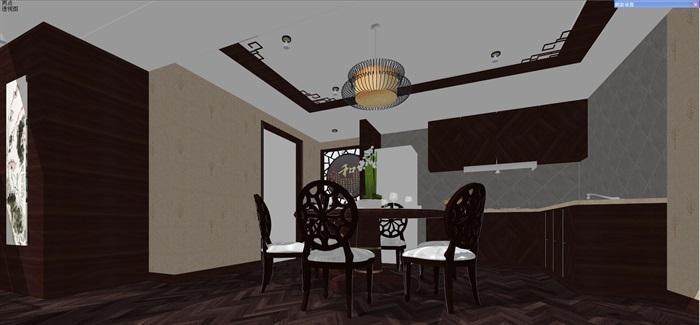 中式客厅餐厅设计(4)