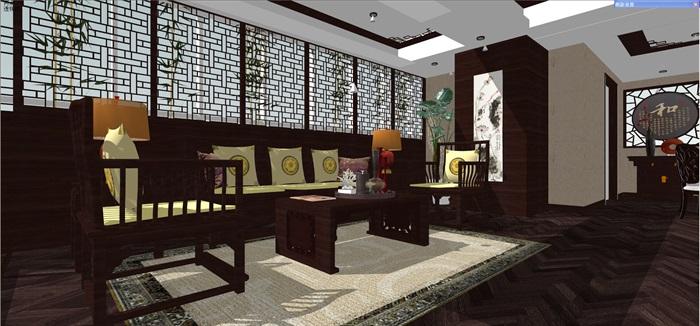 中式客厅餐厅设计(5)