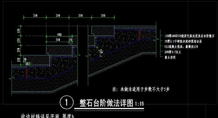 台阶,变形缝,排水沟,鉄篦子等节点cad详图[原创]图片