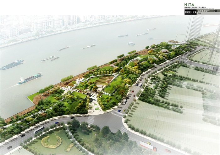 上海陆家嘴滨江大道改造景观设计jpg全套成果