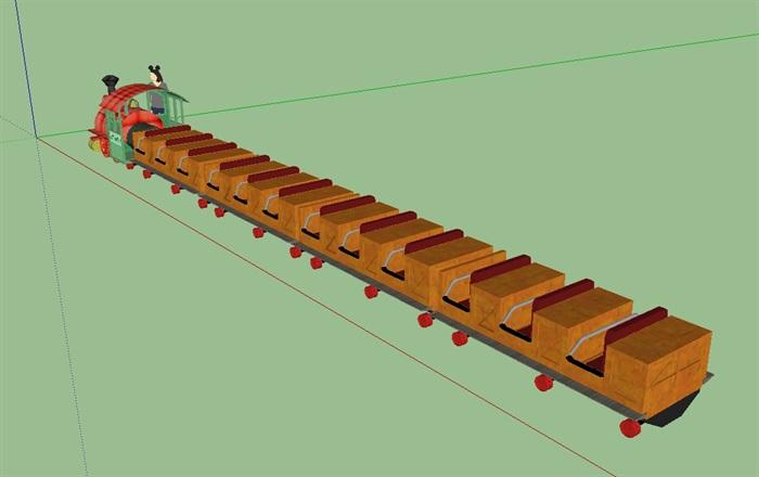迪士尼小火车SU模型