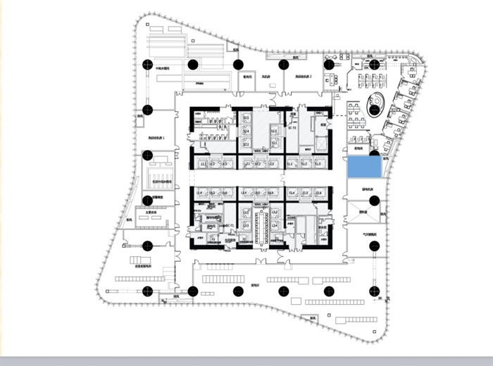 某物业办公室室内空间设计cad施工图含ppt方案(2)