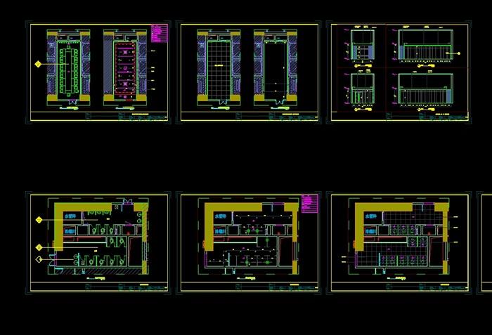 某物业办公室室内空间设计cad施工图含ppt方案(7)