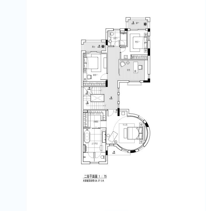 某小区别墅设计cad施工图附手绘图