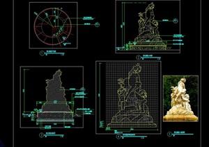 维也纳小孩雕塑CAD施工图