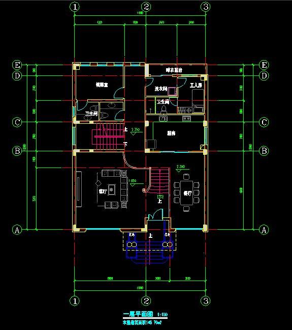 精致小别墅部分施工图及效果图(2)