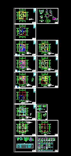 精致小别墅部分施工图及效果图(5)