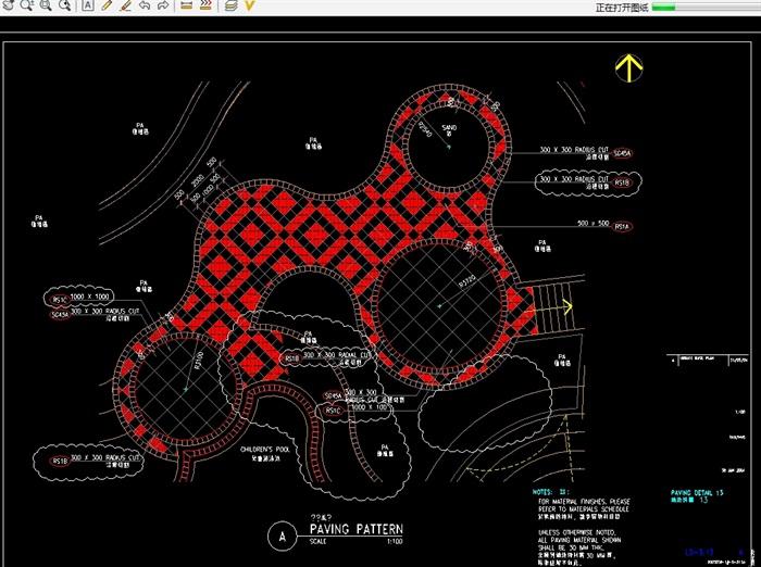 阳光水城住宅全套景观设计cad施工图(3)
