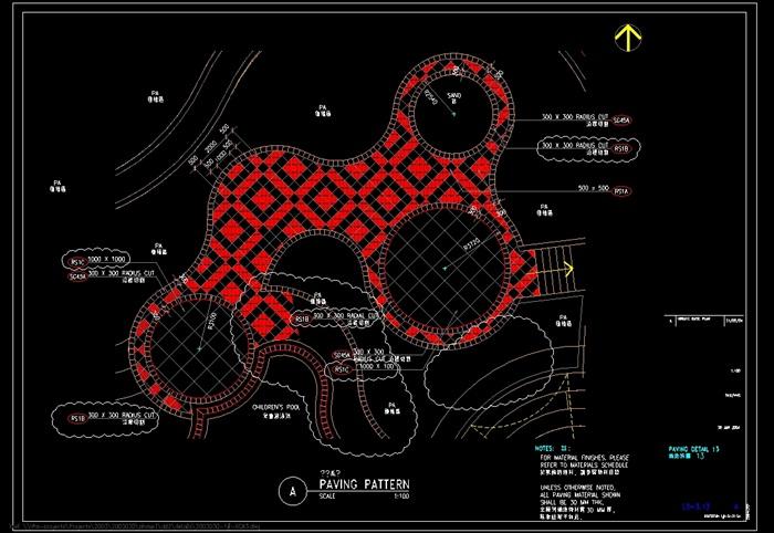 阳光水城住宅全套景观设计cad施工图(4)
