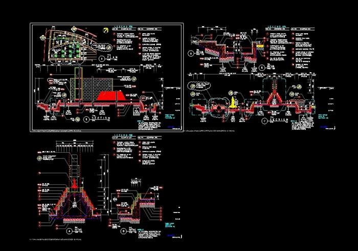 阳光水城住宅全套景观设计cad施工图(5)