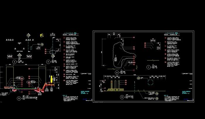 阳光水城住宅全套景观设计cad施工图(7)