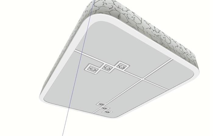 某室内桌子平面su模型