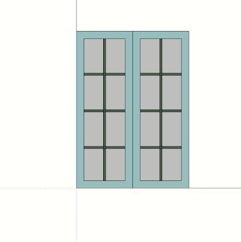 某室内窗户设计su模型