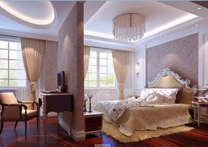 欧式女儿房室内设计3d模型