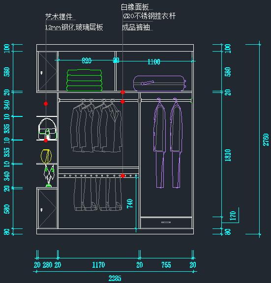 衣柜鞋柜书架立面图(2)