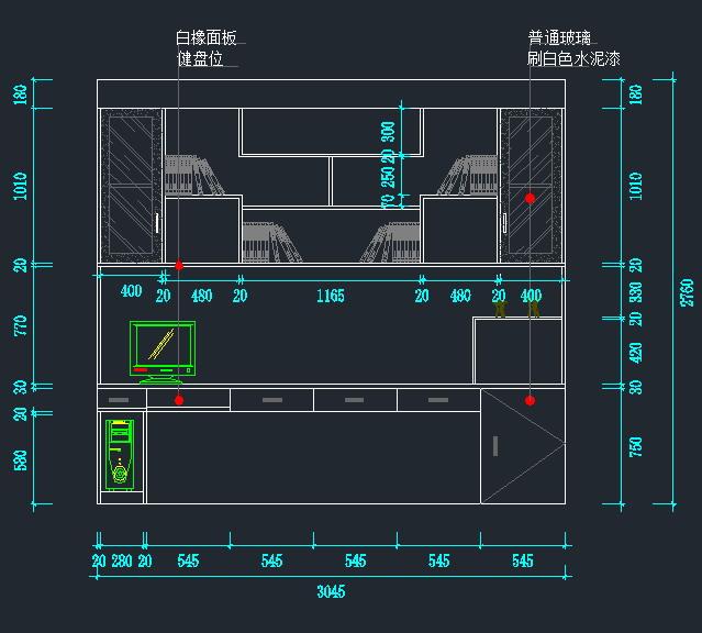 衣柜鞋柜书架立面图(3)