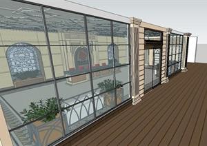 现代售楼中心室内空间设计SU(草图大师)模型