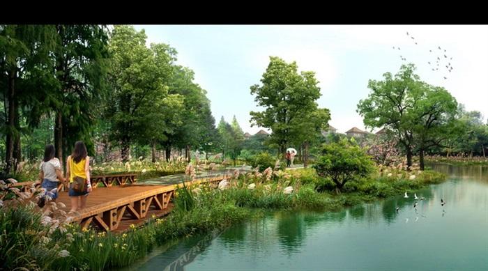 现代滨水公园景观设计psd效果图[原创]