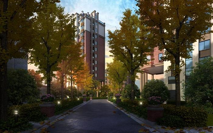 道路景观居住小区内部道路小区内部道路道路景观设计住宅景观小区
